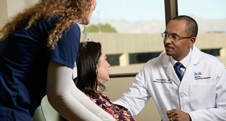 Dr. Hani Babiker hopes to find treatments that can increase survival rates and decrease the risk of recurrence in patients with metastatic melanoma. (Photo: Kris Hanning)