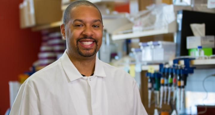 A $1.9 million grant will allow Michael Johnson to study copper toxicity in bacteria, which could pave the way for new therapeutics to combat infections. (Photo: Mari Cleven/UA Office of Research, Discovery & Innovation)
